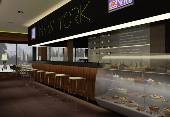 «NEW YORK» kafe bar. Дизайн кафе бар Красноярск 2006 год.